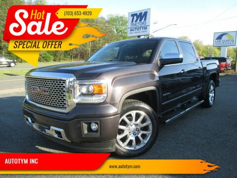 2015 GMC Sierra 1500 for sale at AUTOTYM INC in Fredericksburg VA