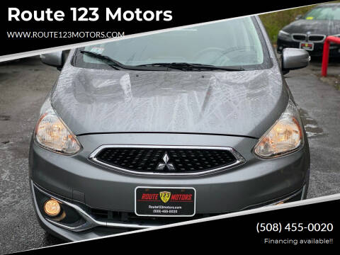 2017 Mitsubishi Mirage for sale at Route 123 Motors in Norton MA