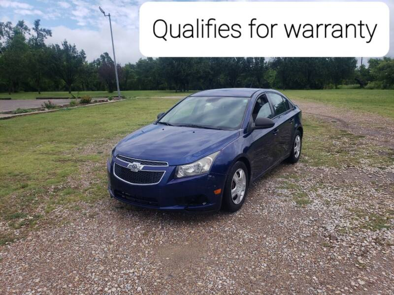 2013 Chevrolet Cruze for sale at NOTE CITY AUTO SALES in Oklahoma City OK