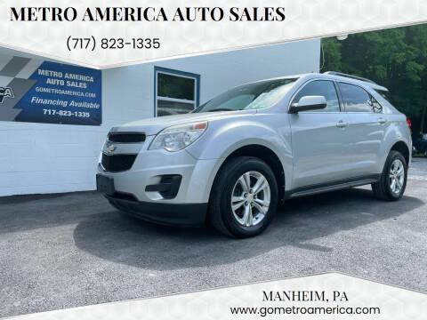 2012 Chevrolet Equinox for sale at METRO AMERICA AUTO SALES of Manheim in Manheim PA