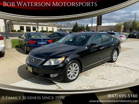 2012 Lexus LS 460 for sale at Bob Waterson Motorsports in South Elgin IL