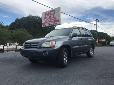 2004 Toyota Highlander for sale at No Full Coverage Auto Sales in Austell GA