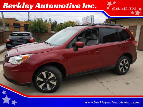 2016 Subaru Forester for sale at Berkley Automotive Inc. in Berkley MI