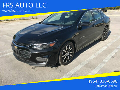 2018 Chevrolet Malibu for sale at FRS AUTO LLC in West Palm Beach FL