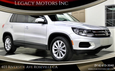 2015 Volkswagen Tiguan for sale at Legacy Motors Inc in Roseville CA