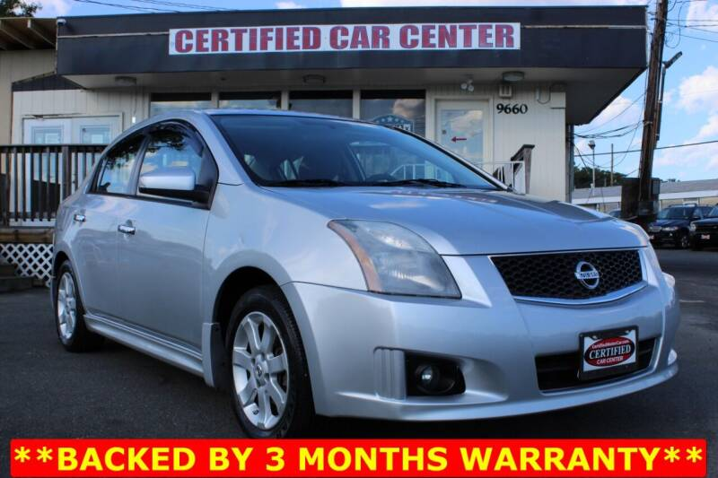 2012 Nissan Sentra for sale at CERTIFIED CAR CENTER in Fairfax VA