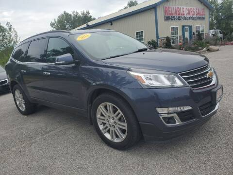 2014 Chevrolet Traverse for sale at Reliable Cars Sales in Michigan City IN