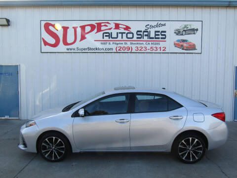 2017 Toyota Corolla for sale at SUPER AUTO SALES STOCKTON in Stockton CA