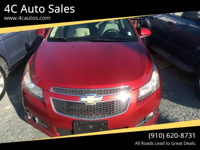 2013 Chevrolet Cruze for sale at 4C Auto Sales in Wilmington NC