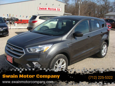 2017 Ford Escape for sale at Swain Motor Company in Cherokee IA
