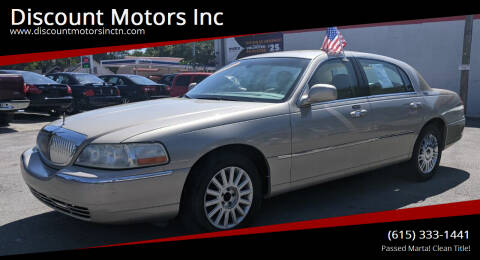 2008 Lincoln Town Car for sale at Discount Motors Inc in Nashville TN