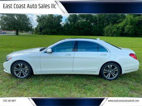 2017 Mercedes-Benz S-Class for sale at East Coast Auto Sales llc in Virginia Beach VA