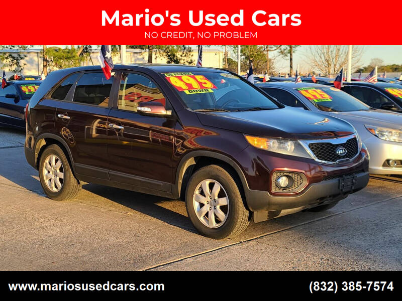 2013 Kia Sorento for sale at Mario's Used Cars in Houston TX