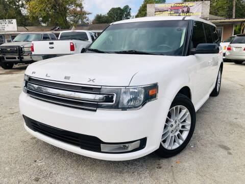 2014 Ford Flex for sale at Lion Auto Finance in Houston TX