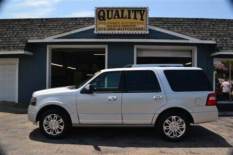 2012 Ford Expedition for sale at Quality Pre-Owned Automotive in Cuba MO