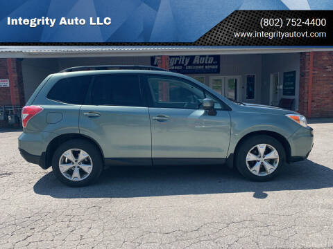 2014 Subaru Forester for sale at Integrity Auto LLC - Integrity Auto 2.0 in St. Albans VT