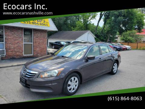 2011 Honda Accord for sale at Ecocars Inc. in Nashville TN