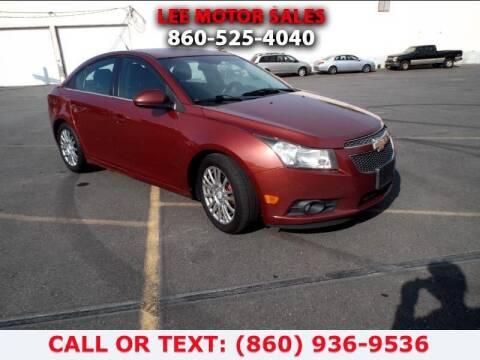 2012 Chevrolet Cruze for sale at Lee Motor Sales Inc. in Hartford CT