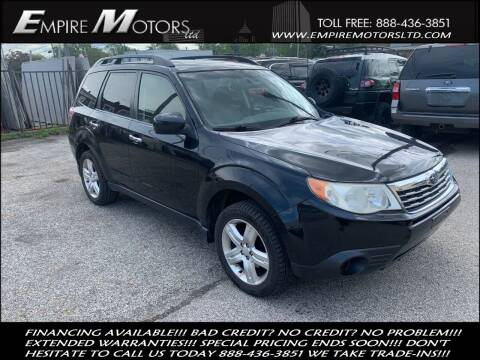 2009 Subaru Forester for sale at Empire Motors LTD in Cleveland OH