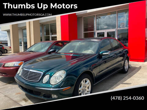 2004 Mercedes-Benz E-Class for sale at Thumbs Up Motors in Warner Robins GA
