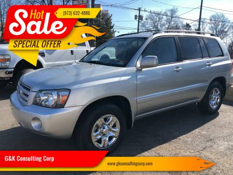 2004 Toyota Highlander for sale at G&K Consulting Corp in Fair Lawn NJ