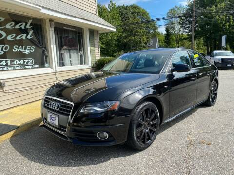 2012 Audi A4 for sale at Real Deal Auto Sales in Auburn ME