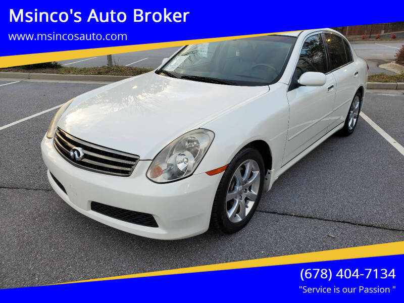2006 Infiniti G35 for sale at Msinco's Auto Broker in Snellville GA