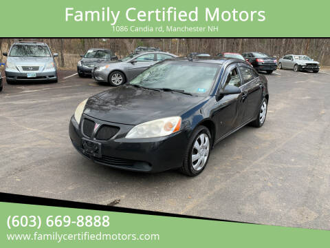 2008 Pontiac G6 for sale at Family Certified Motors in Manchester NH