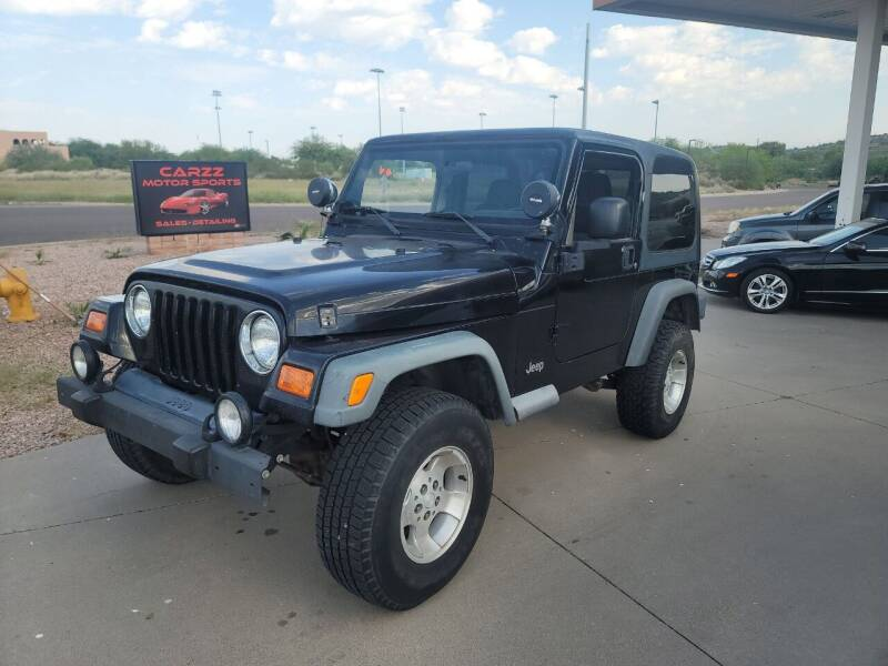 2003 Jeep Wrangler for sale at Carzz Motor Sports in Fountain Hills AZ