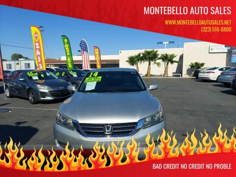 2014 Honda Accord for sale at Montebello Auto Sales in Montebello CA