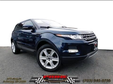 2013 Land Rover Range Rover Evoque for sale at PRIME MOTORS LLC in Arlington VA