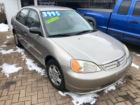 2001 Honda Civic for sale at Mr Wonderful Motorsports in Aurora IL