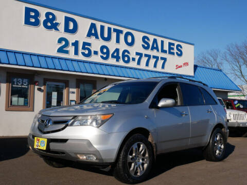 2008 Acura MDX for sale at B & D Auto Sales Inc. in Fairless Hills PA