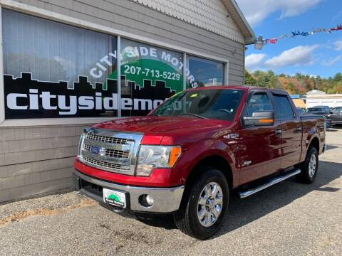 2014 Ford F-150 for sale at CITY SIDE MOTORS in Auburn ME