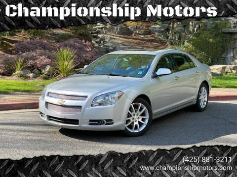 2012 Chevrolet Malibu for sale at Championship Motors in Redmond WA