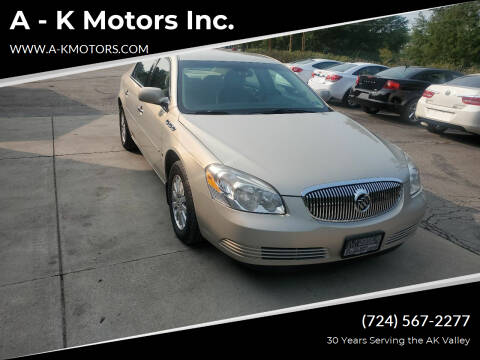 2008 Buick Lucerne for sale at A - K Motors Inc. in Vandergrift PA