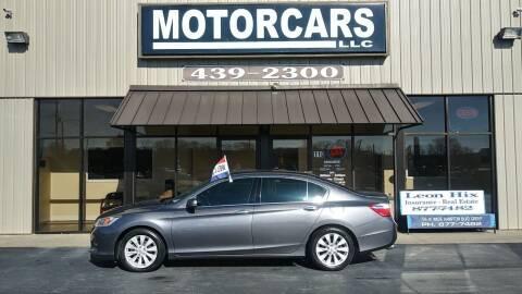 2013 Honda Accord for sale at MotorCars LLC in Wellford SC