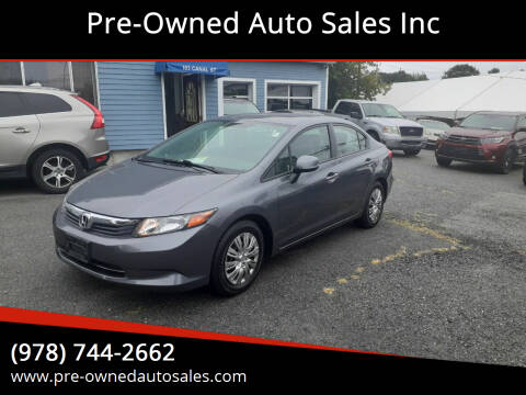 2012 Honda Civic for sale at Pre-Owned Auto Sales Inc in Salem MA
