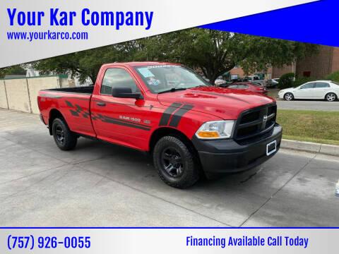 2012 RAM Ram Pickup 1500 for sale at Your Kar Company in Norfolk VA