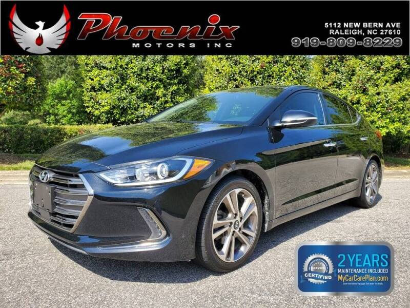 2017 Hyundai Elantra for sale at Phoenix Motors Inc in Raleigh NC
