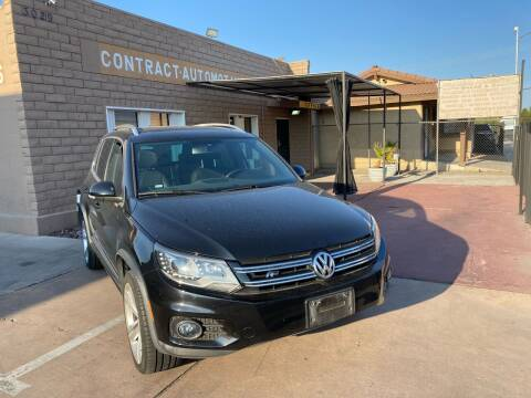 2014 Volkswagen Tiguan for sale at CONTRACT AUTOMOTIVE in Las Vegas NV