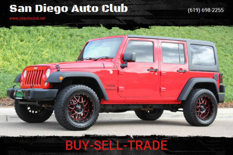 2015 Jeep Wrangler Unlimited for sale at San Diego Auto Club in Spring Valley CA