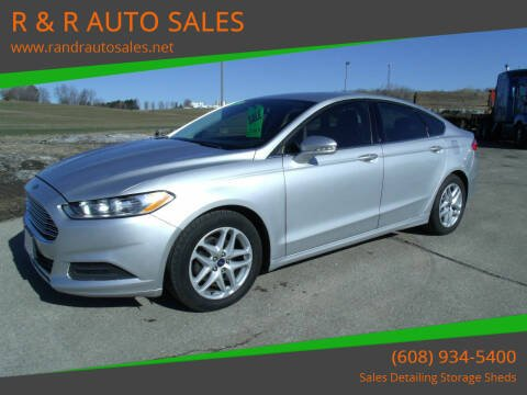 2013 Ford Fusion for sale at R & R AUTO SALES in Juda WI