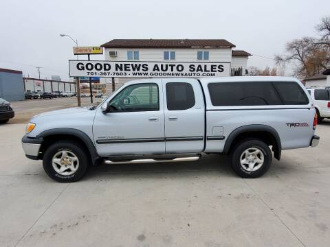 2000 Toyota Tundra for sale at GOOD NEWS AUTO SALES in Fargo ND