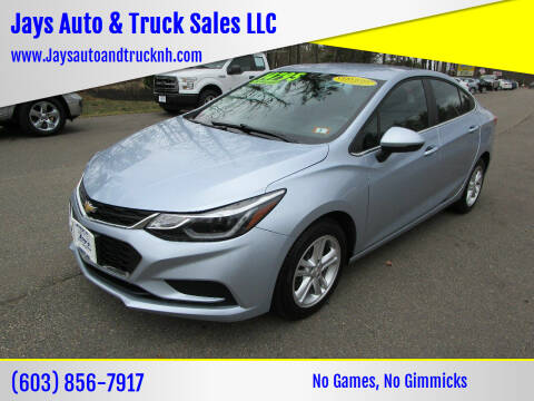 2017 Chevrolet Cruze for sale at Jays Auto & Truck Sales LLC in Loudon NH