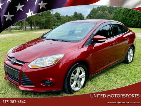 2014 Ford Focus for sale at United Motorsports in Virginia Beach VA