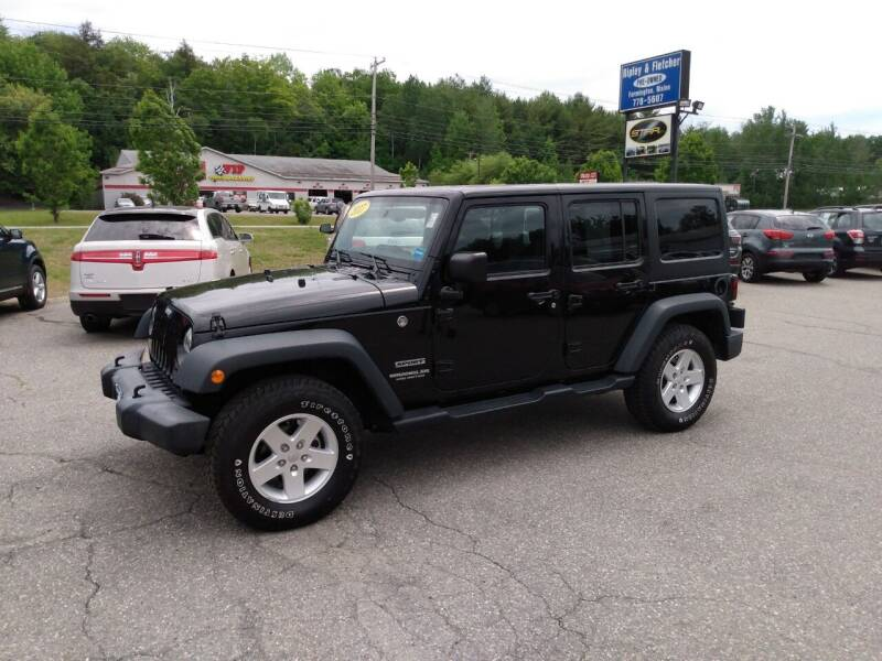 2017 Jeep Wrangler Unlimited for sale at Ripley & Fletcher Pre-Owned Sales & Service in Farmington ME