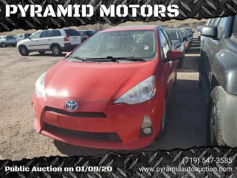 2012 Toyota Prius c for sale at PYRAMID MOTORS - Pueblo Lot in Pueblo CO