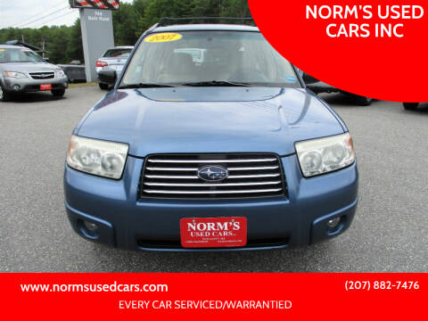 2007 Subaru Forester for sale at NORM'S USED CARS INC in Wiscasset ME