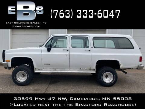 1991 Chevrolet Suburban for sale at East Bradford Sales, Inc in Cambridge MN